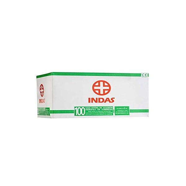 Indas Compresa Gasa Esteril 100U Indas 160 g 2