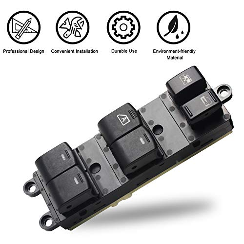 Travay Driver Side Master Power Window Switch Compatible with 2008-2012 Nissan Sentra Replacement Window Switch 25401-ZJ60A, 5401-ZJ80A