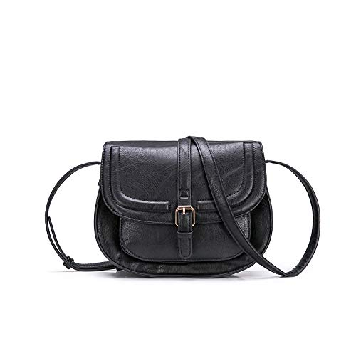 Women Crossbody Satchel Bag Small Saddle Purse and Tote Shoulder ()