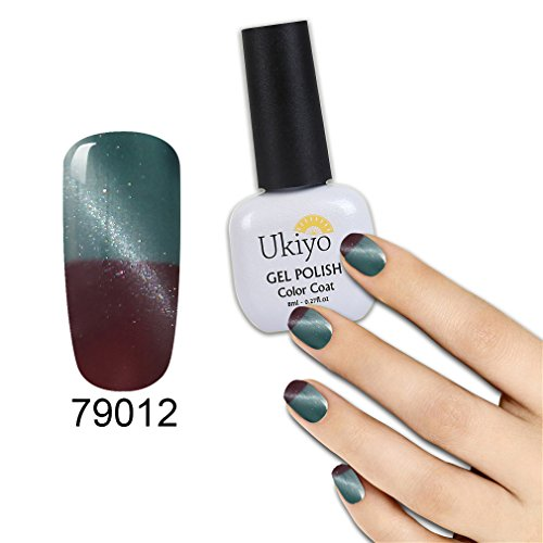 Ukiyo 3D Magnetic Cat Eye Gel Polish Set 6Pcs Thermal Temperature Color Changing Nail Gel Polsih UV Gel 8ml/0.27fl.oz LED Soak Off Chameleon Gel Nail Polish Varnish Long Lasting Lacquer (#2) Photo #5