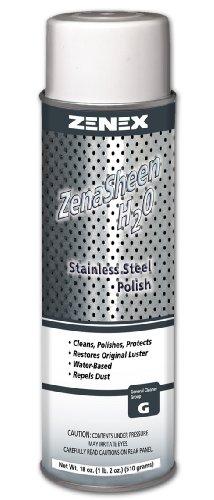 Zenex ZenaSheen H2O Water Base Stainless Steel Polish - 12 Cans (Case)