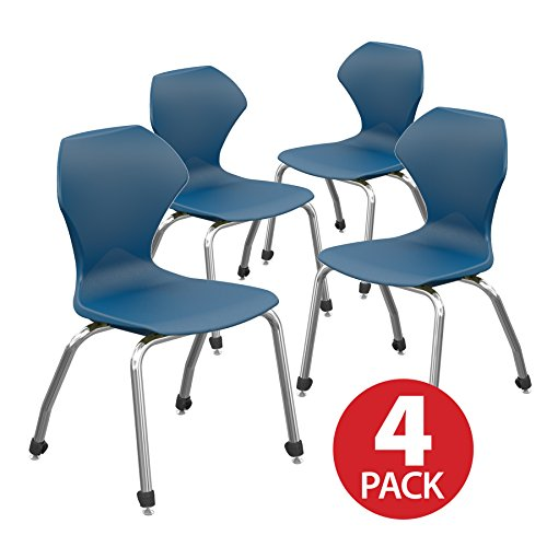 Marco Group 38101A-16CR-ANA Apex Series 4-Pack Stacking Chair, 16