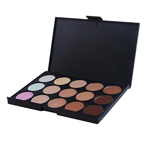 Clearance! Pro 15 Color Neutral Warm concealer Makeup Foundation Camouflage Cream Palette Cosmetic Set (a) Light Camouflage Makeup
