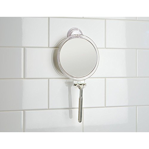 bathroom suction mirror interdesign power lock suction bathroom or shower 11543