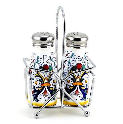 RICCO DERUTA: Salt and Pepper Shaker set w/Stailess Steel Top [#9500-RIC]