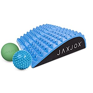 JAXJOX Lumbar Restore Set Includes: Neck Back Lumbar Mat 2 Massage Balls