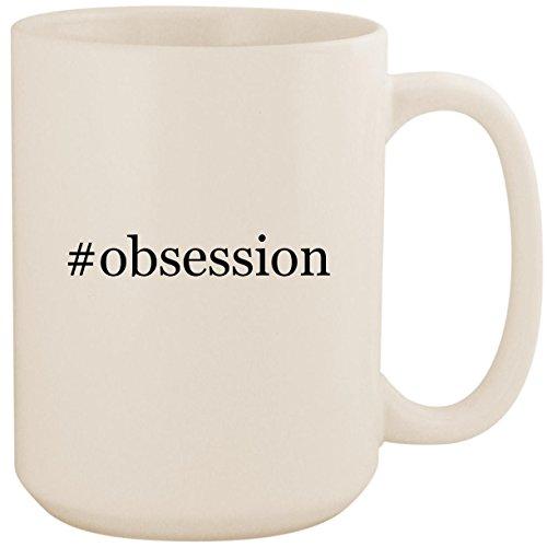 #obsession - White Hashtag 15oz Ceramic Coffee Mug Cup Alagio Silk Obsession Silk