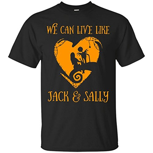 Cool Nightmare Before Christmas Costume Tee We Can Live Like Jack & Sally Love Heart Gift For Men, Women, Friends, Family Unisex Tshirt - The Nightmare Before Christmas Sexy Jack Costumes