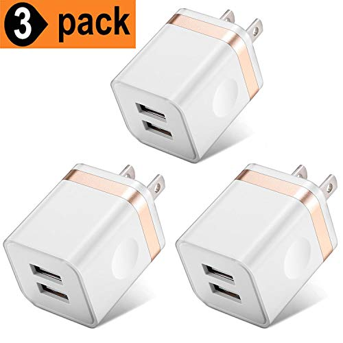 USB Charger Plug, WITPRO 3-Pack 2.1A Dual Port USB Wall Charger Charging Block Compatible with Phone Xs Max/Xs/XR/X/8/7/6S/6 Plus/5S, Samsung Galaxy S10 S9 S8 S7 S6 Edge, LG, HTC, Moto and More