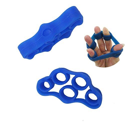 Hand Finger Trainer,Matoen Hand Strength Exerciser Strengthener Grip Resistance Band Tension (Blue)