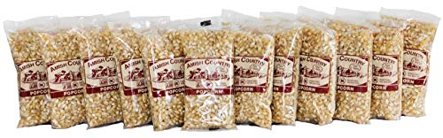 Amish Country Popcorn Baby White - Small & Tender Popcorn - With Recipe Guide