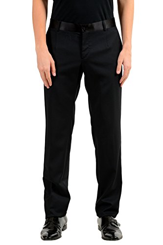 Dolce & Gabbana Men's Black Silk Wool Tuxedo Dress Pants US 34 IT 50 (Tuxedo & Gabbana Dolce)