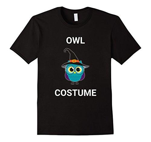 Mens Cute Owl Witch Hat Costume Halloween T-Shirt Bird Tee 2XL (Black Bird Costume Ideas)