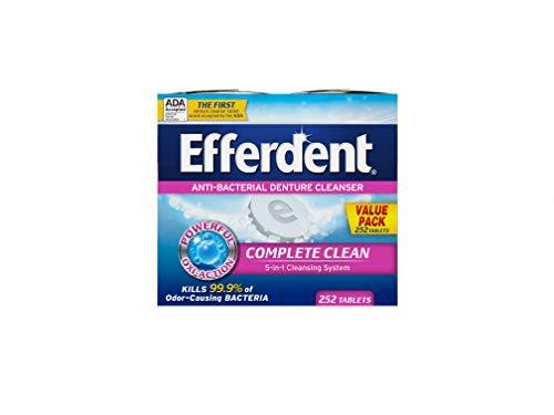Efferdent Denture Cleaner 252 Piece Tablets