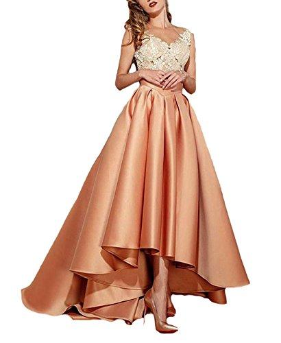 c38e3d55b6 Dressesonline Women s Lace Appliques Formal Prom Dresses High Low Evening  Dress - Buy Online in UAE.