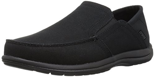 Crocs Men's Santa Cruz Convertible Slip-on Loafer Flat, Black/Black, (Crocs Santa Cruz Men)
