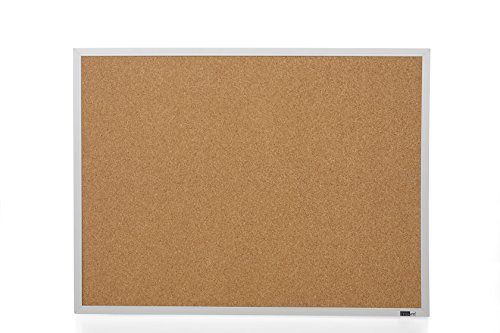Innovart Cork Bulletin Board - Cork Board - Aluminum Frame 5 Pcs Clear Push Pin Included (18 x 24)