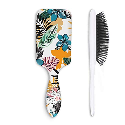 - Hair Brush Wild Summer Tropical Floral Hawaii Detangling Shine Brushes Reduce Frizz Massage Improve Hair Texture Bristle Hairbrush Maintenance Boar Bristle Paddle Comb All Hair Types Straight