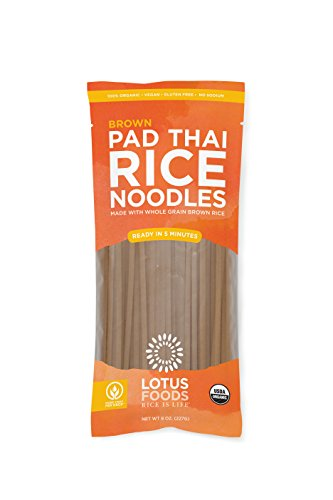 Lotus Foods Organic Brown Rice Pad Thai Noodles, 8 Count by Lotus Foods