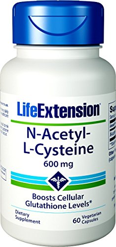 Cheap Life Extension N-Acetyl-L-Cysteine 600mg, 60 Vegetarian Capsules