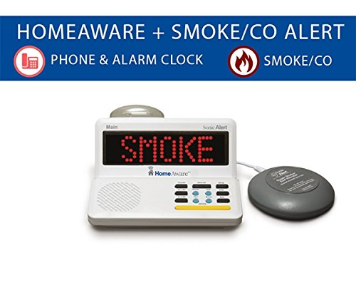 (The HomeAware Fire and CO Signaler (with Built-in Smoke/CO Listener Phone and Bed Shaker) )