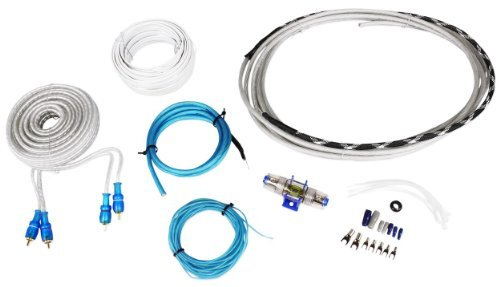 Rockville RMWK8 8 AWG Waterproof Marine/Boat Amplifier/Amp Installation Wire Kit by Rockville