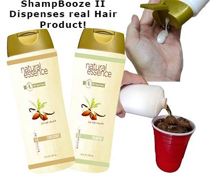 ShampBooze II 17 ounces Hidden Flask x 2 for Cruises. New Improved Seals and Label. by Smuggle Mug