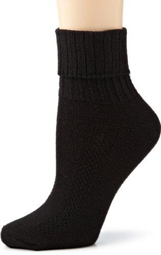 - HUE Women's Air Sport 3 Pair Pack Turncuff Socks, Black, One-Size