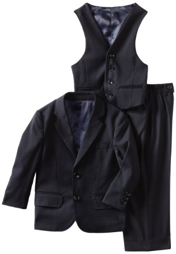 American Exchange Boys 2-7 Solid Sport 3-Piece Suit, Navy Blue, 3