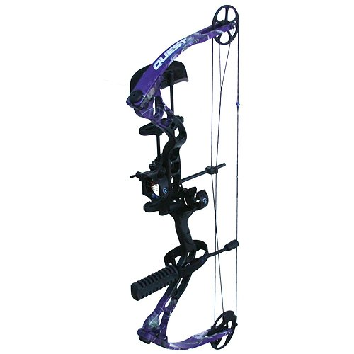 Quest Bliss Right Hand Fluid Cam Bow, AP G-Fade Purple, 23-27-Inch/45-Pound