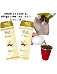 ShampBooze II 17oz Hidden Flask x 2 for Cruises That Dispenses Real Hair Product