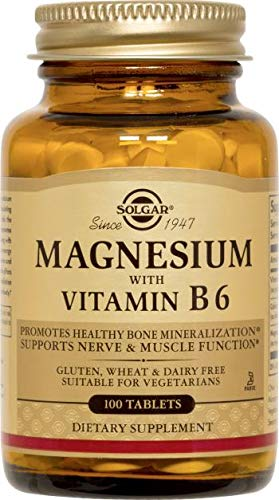 Solgar – Magnesium with Vitamin B6, 100 Tablets