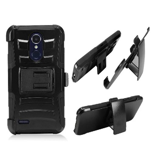 buy popular cfe7b ad9fa Phone Case for Tracfone LG Rebel-2 4g LTE (Straight Talk) / LG Risio-2 / LG  Fortune / LG Aristo LV3 (-Mobile) / LG Phoenix-3 AT&T Rugged Cover Combo ...