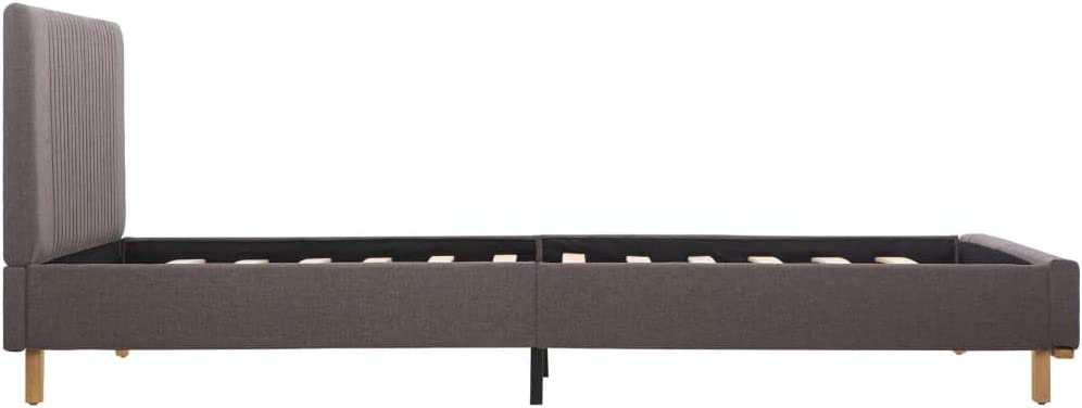 UnfadeMemory Giroletto Imbottito Classico Elegante Telaio Blu in Tessuto 90x200 cm