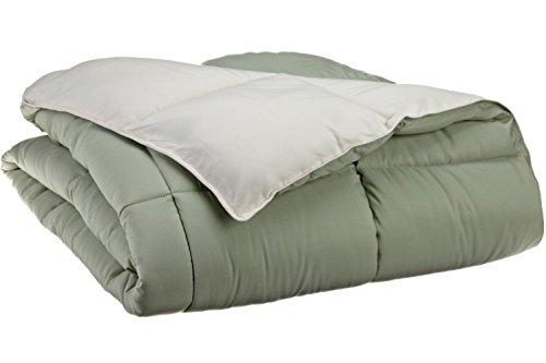 Sao's Silvalinen All Season Superior Down Alternative King Reversible Comforter with Italian Finish Ivory/Sage by Sao's Silvalinen