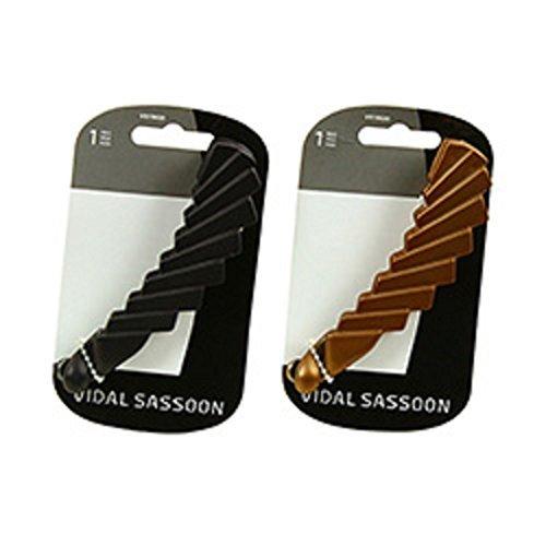 Vidal Sassoon Decorative Banana Barrettes Clips Set of 2 Hair Black Copper