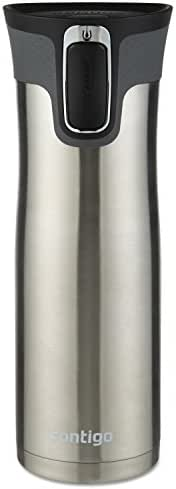 Contigo AUTOSEAL West Loop Vaccuum-Insulated Stainless Steel Travel Mug, 20  oz, Stainless Steel