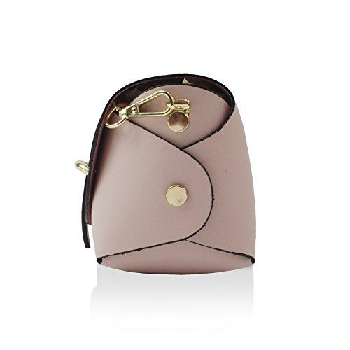Borsa Elegante Clutch Glamexx24 Mano Rosa In Italy Borsetta Casual Da Palle Tracolla Made Vera A Donna FvwvdB