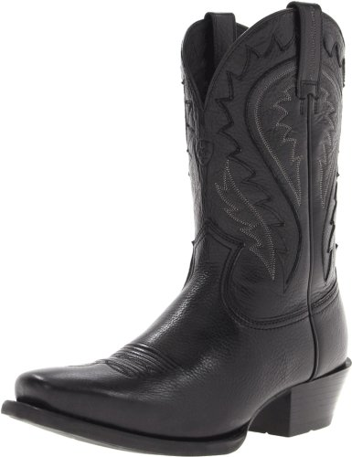 Ariat Men's Legend Phoenix Western Cowboy Boot, Black Deertan, 10 M US