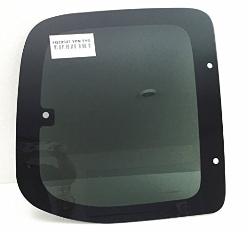 (Fits 2000-2006 Toyota Tundra Pickup 2 Door Extended Cab Passenger Side Right Rear Quarter Glass Window Movable FQ20547YPN)