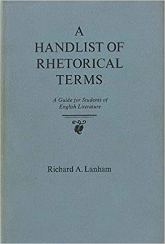 A HANDLIST OF RHETORICAL TERMS EBOOK