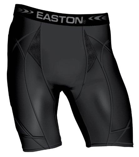 Easton Youth Girls Extra Protective Sliding Short, Black, (Extra Protective Sliding Short)