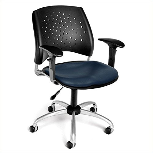 OFM 326-VAM-AA3-605 Stars Swivel Chair with Arms and Vinyl S