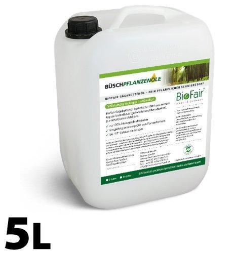 biofair saegekettenoel (5 litri) in 100% puro olio di colza pieno raffinato Büsch Pflanzenöle GmbH & Co. KG 290