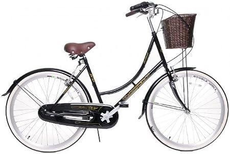 Ammaco - Bicicleta de paseo (con cesta, para mujer, Dutch ...