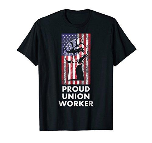 Proud Union Worker USA Flag T-Shirt Labor Union Member