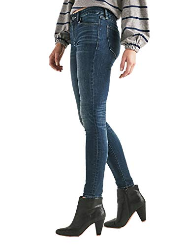Trousers Lucky Brand Denim - Lucky Brand Women's Ava Skinny Mid Rise Jeans Lonestar Blue Wash (26W Ankle US: 2)