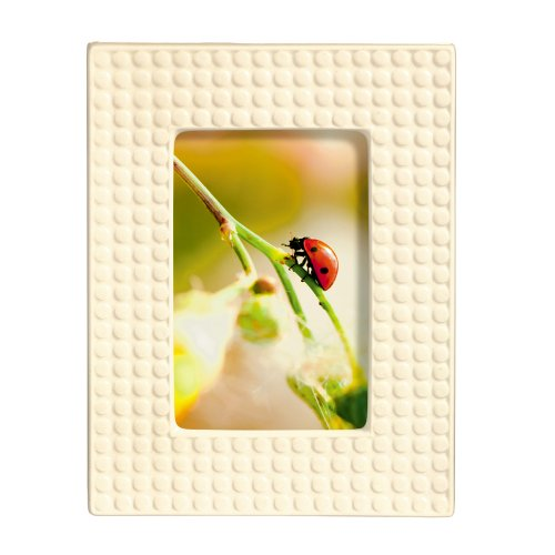 yday Life Photo Frame, White Ceramic Dot, 4 by 6-Inch (Baby Dot Ceramic)
