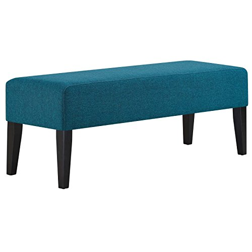 Contemporary Dining Bench - Modway EEI-2556-TEA Connect Plush Polyester Upholstered Contemporary Bench, Teal