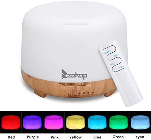 YEUNG Portable Cool Mist Humidifier, 7 Color Changing LED